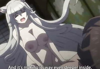 Fox girl fucks a human - Uncensored Hentai