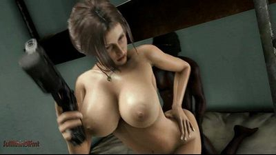 Horny Slut Lara Croft Gets Creampied By BBC - 31 sec