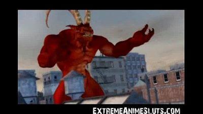 Satan Fucks Giant Girl! - 3 min