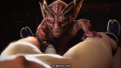 Young Hentai Girl Fucked By A Monster - Vol. 3 - 3 min
