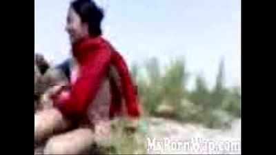 Horny North East Indian couple fucking in the outdoors MMS - 16 min