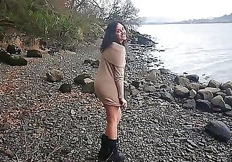 Shameless indian hottie has risky sex in public by the lake while strangers watch desi chudai POV Indian 12 min 1080p