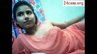 Cute desi girl boobs show on cam part 1- 24Cam.org - 4 min