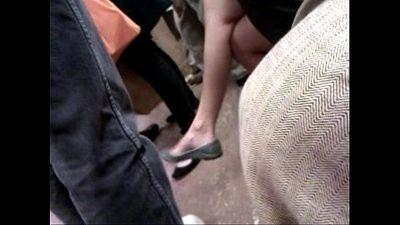 Asian milf on F train expert dangle - 56 sec