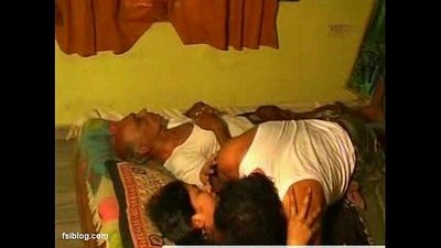 wife cheats her old age husbend wile sleeping - 4 min