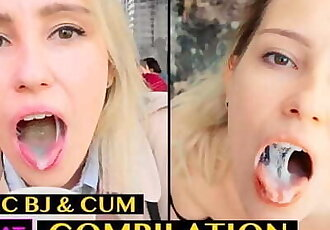 Risky Blowjob with Cum in Mouth & Swallow - Public Agent Pickup Student to Outdoor Sucking / Kisscat