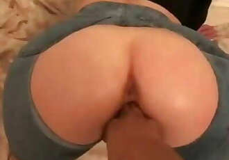 BACK SHOTS FOR BONNIE IN RIPPED SHORTS UK INTERRACIAL
