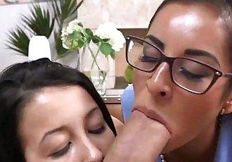 Perfect Alaina Kristar Sucking Cock with Stepmom Porn Star