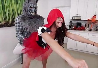 Slim chick Kharlie Stone gets fucked from behind like a superhero
