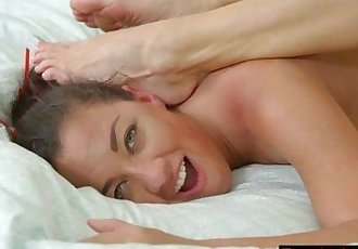 Silvia Sage and Amara Romani make out in the bedroom