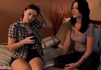 Mature Lesbian Seducing Young Lesbian For More Go Towww.cutegirlsonline.com