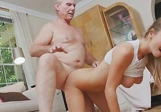Pretty Blonde Teen Molly Mae Taking On Dirty Old Dick