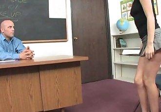 Sweet Blonde Teen Seduces Her Teacher!HD
