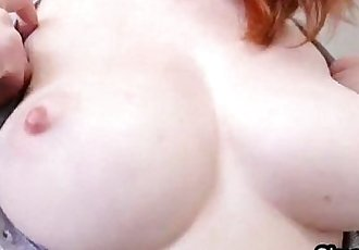 Braless bigtit ginger fucked from street