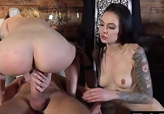 BANG Confessions: Aubrey Sinclair Threesome Fuck in Dressing RoomHD+
