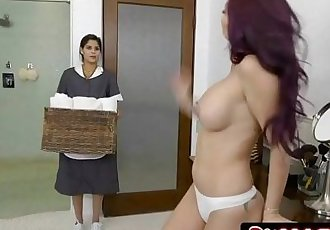 Married MILF Monique Alexander Cheating With ... Her Maid Katya RodriguezHD