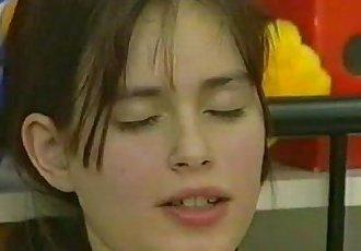 Sandra German teen masturbates
