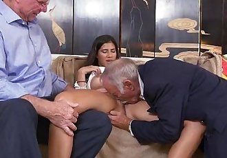 Old guys get sucked off by Latina TeenHD