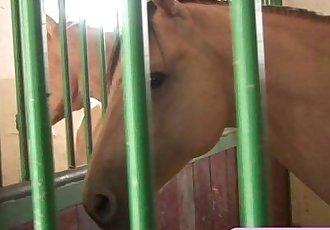 Cute masturbating horse riderHD