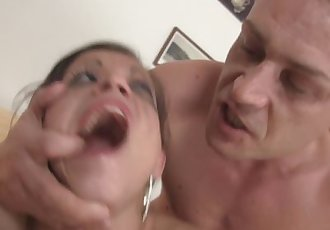 Brutal blowjob and hard fucking for her