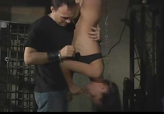 Innocent helpless slave gets painful prelude before fuck