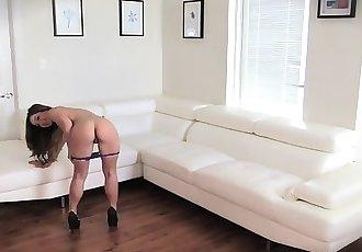 SheerCity.com - Sexy Bambi Brooks Strips For the Camera