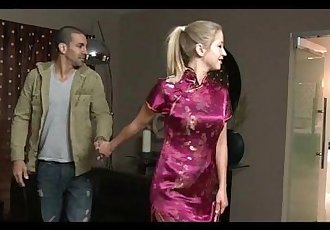 Blonde Teen Casi James Nuru Massage and Blowjob