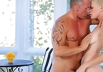 Shaved Blonde Teen Fucks Best Friends Dad 7 min HD