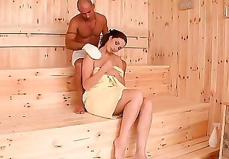 Incredibly horny sauna babe Paige Turnah fucks big dick until she quirts 23 min HD+
