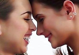 Model teen lesbian beauties sensual pussy licking