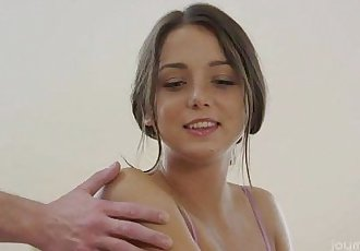 Perky boobs showered with cumHD