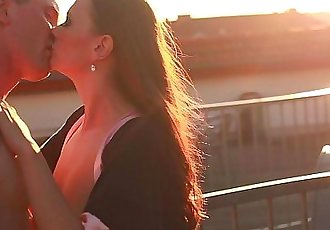 PORN VALENTINE - ROOFTOOP ROMANCE AND ROMANTIC HARDFUCKING - 5 min HD