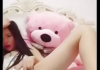 Pretty Chinese Camgirl Plays with her Fat Pink Pussy. Watch more:..