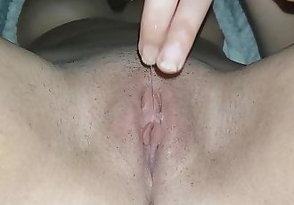 Masturbating Before Bed - Wet Pussy Closeup