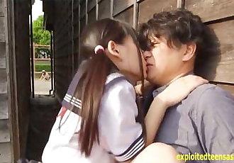 Jav Idol Abe Mikako Fucks On The Back Of Mini Van Truck