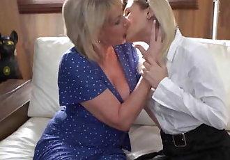 21Sextreme Shaved Schoolgirl & Granny Exchange Pussy Licks