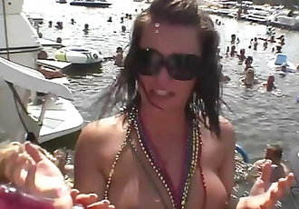 party girls licking cracks and using double dildos on each other