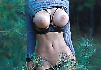 Real Outdoor Fucking and Pussy Licking with Big Boobs Teen