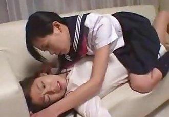 Cute Asian Lesbian Foot Suck