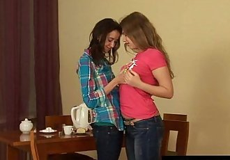 Sexy lesbian teens finger and toy twatsHD