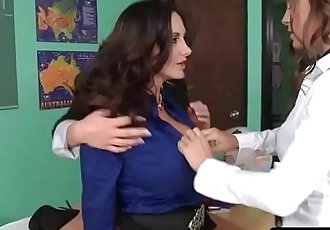 Hot and MEan LesbiansAva and the Slutty Schoolgirls with Abigail Mac & Ava Addams & Ryan