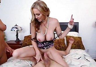 StepMom Julia Ann 3some with maid Abby Lee Brazil