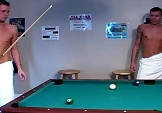 Hot Men In Towels Playing Pool Then Something Happens