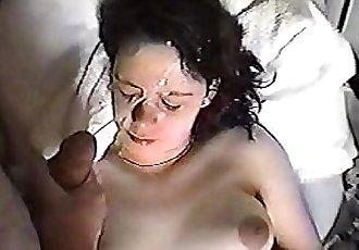 sleeping facial cumshot - 30 sec