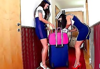 Crazy Hot Spanish Stewardess Sex with Lorena & Alexa Tomas 22 min HD+