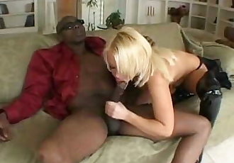 platinum blonde interracial sex with a big black dick