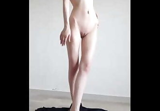 Syrian muslim girl stripping and fingering asshole
