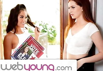 WebYoung Str8 Girl Kendra Spade Goes Lesbian to Get Votes