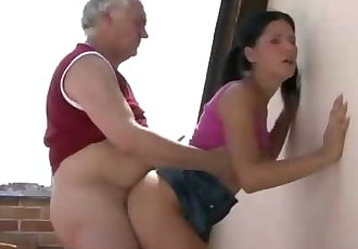 Horny Father Fucks his Sons Girlfriend
