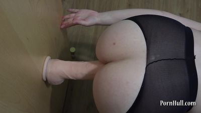Deep anal with a huge dildo!